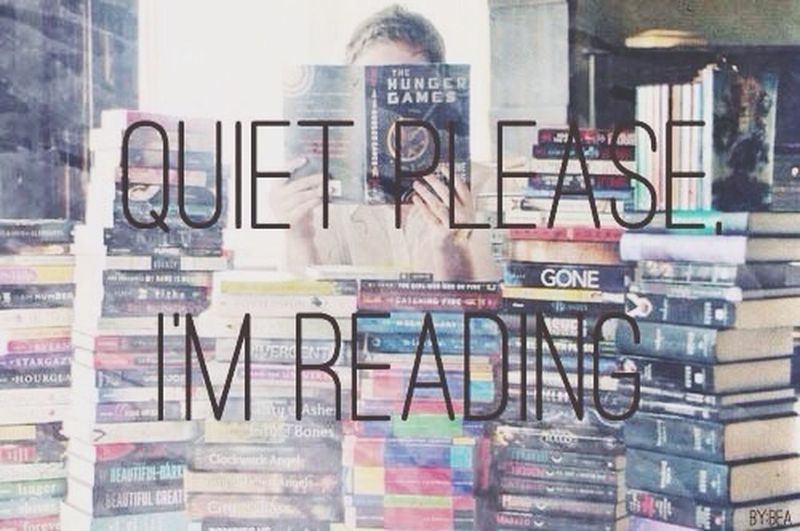 Quiet please. I'm reading. :) Books Reading Reading A Book