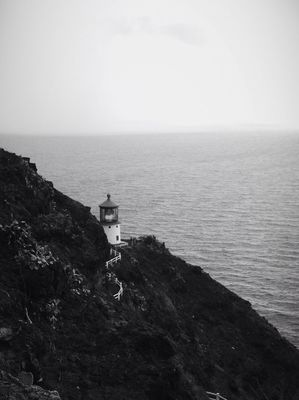 blackandwhite at Makapu'u Lighthouse by me_lv