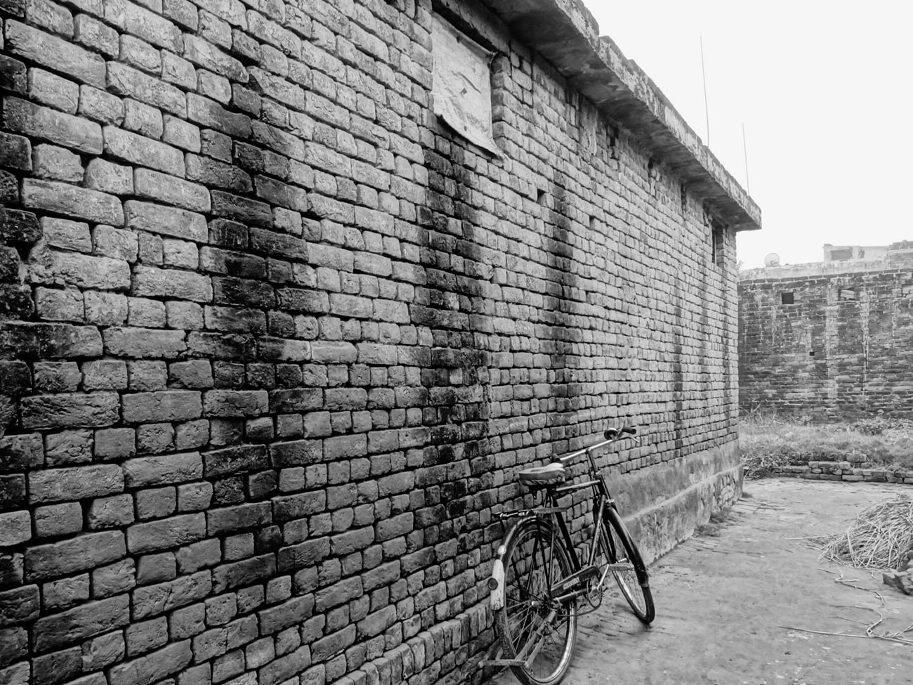 Blackandwhite Blackandwhite Photography Rural India Wall Classic Cycle