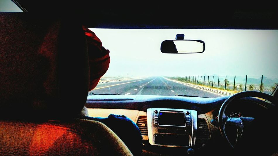 Roadtrip Transportation Windshield Mode Of Transport Toyota Innova Morning Light Outdoors People Day Car