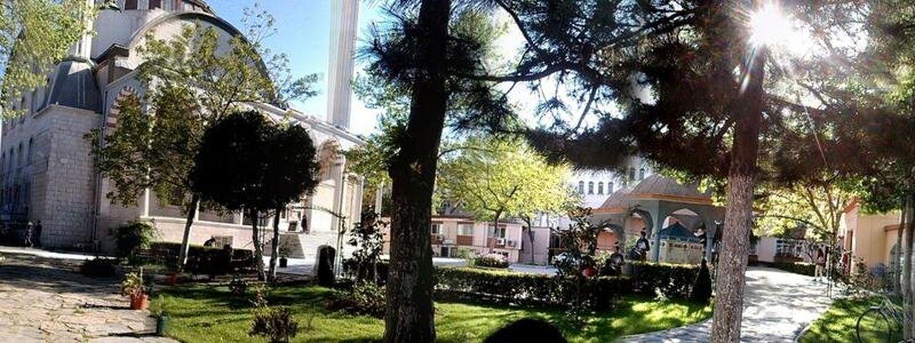 camii şadırvan Mosque Nofilter Panaroma