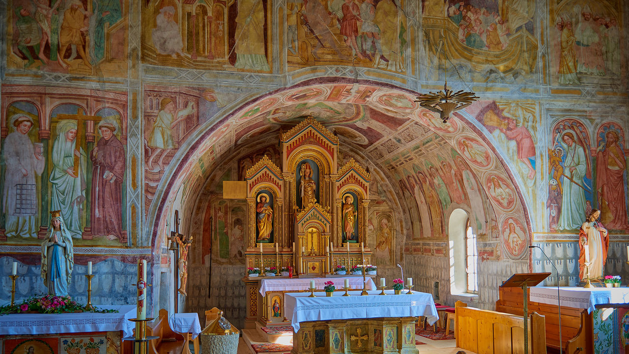 Altar Architecture Church In The Mountains Day History Indoors  No People Place Of Worship Religion Spirituality Travel Destinations