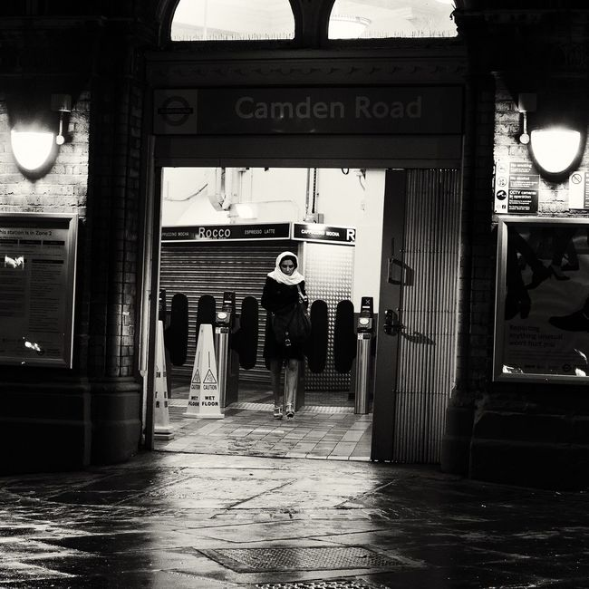 Camden Town London Capture The Moment Streetphotography Film Noir Up Close Street Photography Blackandwhite Streetphoto_bw Mode Of Transport Portrait Of A Woman
