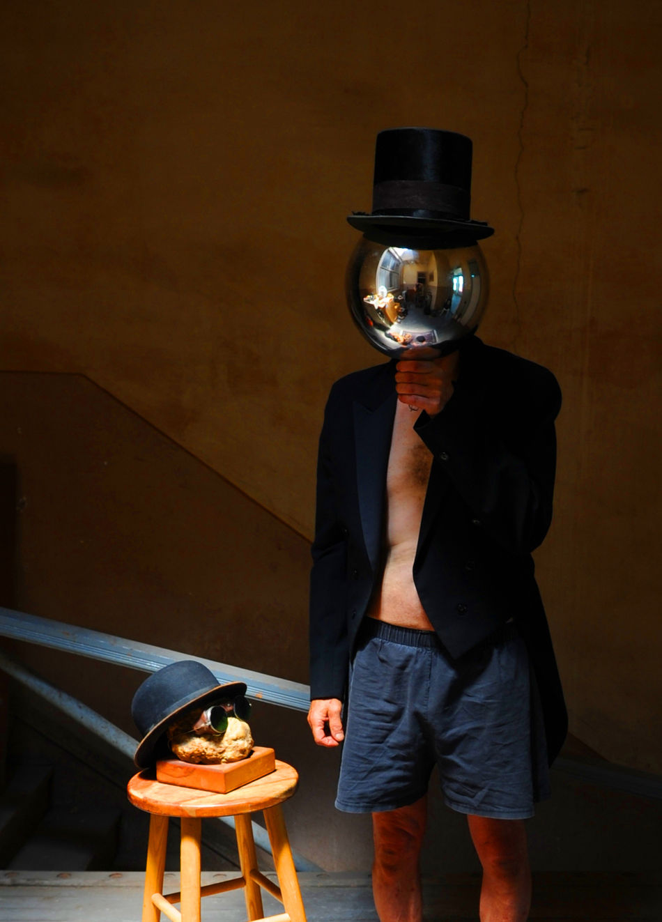 Bubble Head Innerspace Magical Places Mirror Ball Mirror Mask Mysteryman Tophats Tux Jacket