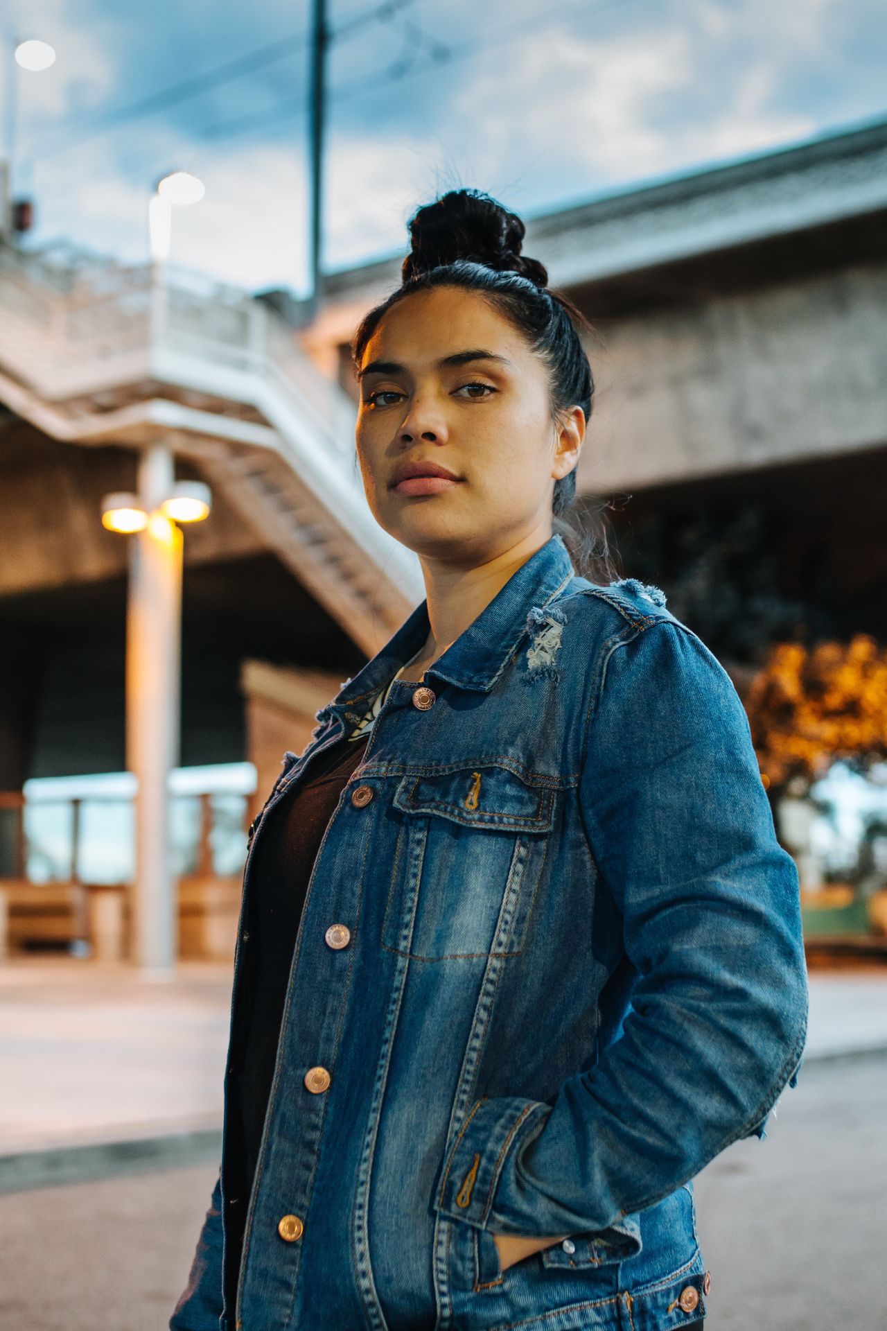 women around the world wife Love Mother Worker friend Badass Standing casual clothing lifestyles one person real people portrait young women denim jacket beautiful woman City women one young woman only streetphotography losangeles EyeEm Sunlight VSCO sunset Fresh on Market 2017