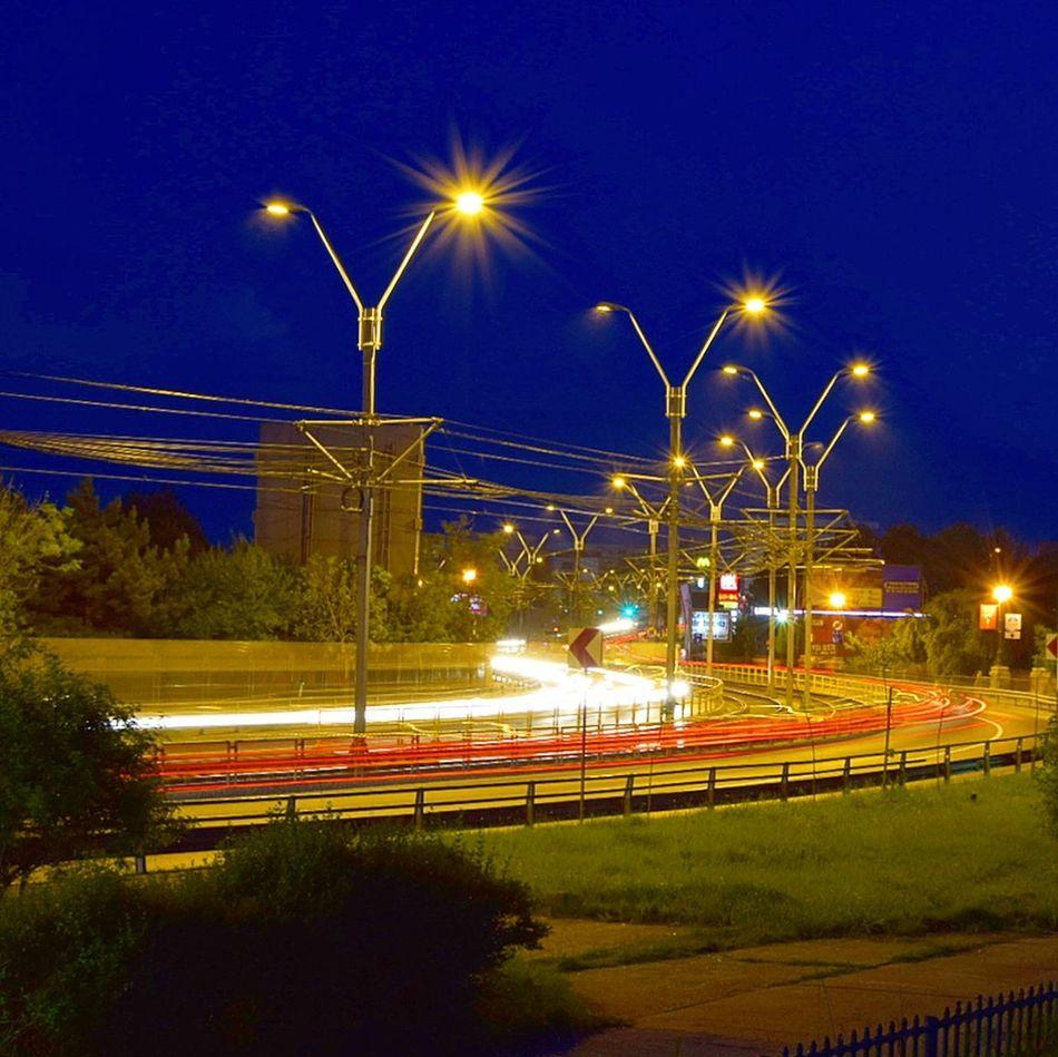Rushour Traficlight Longexposurephotography Citylights♥ Bluehourphotography