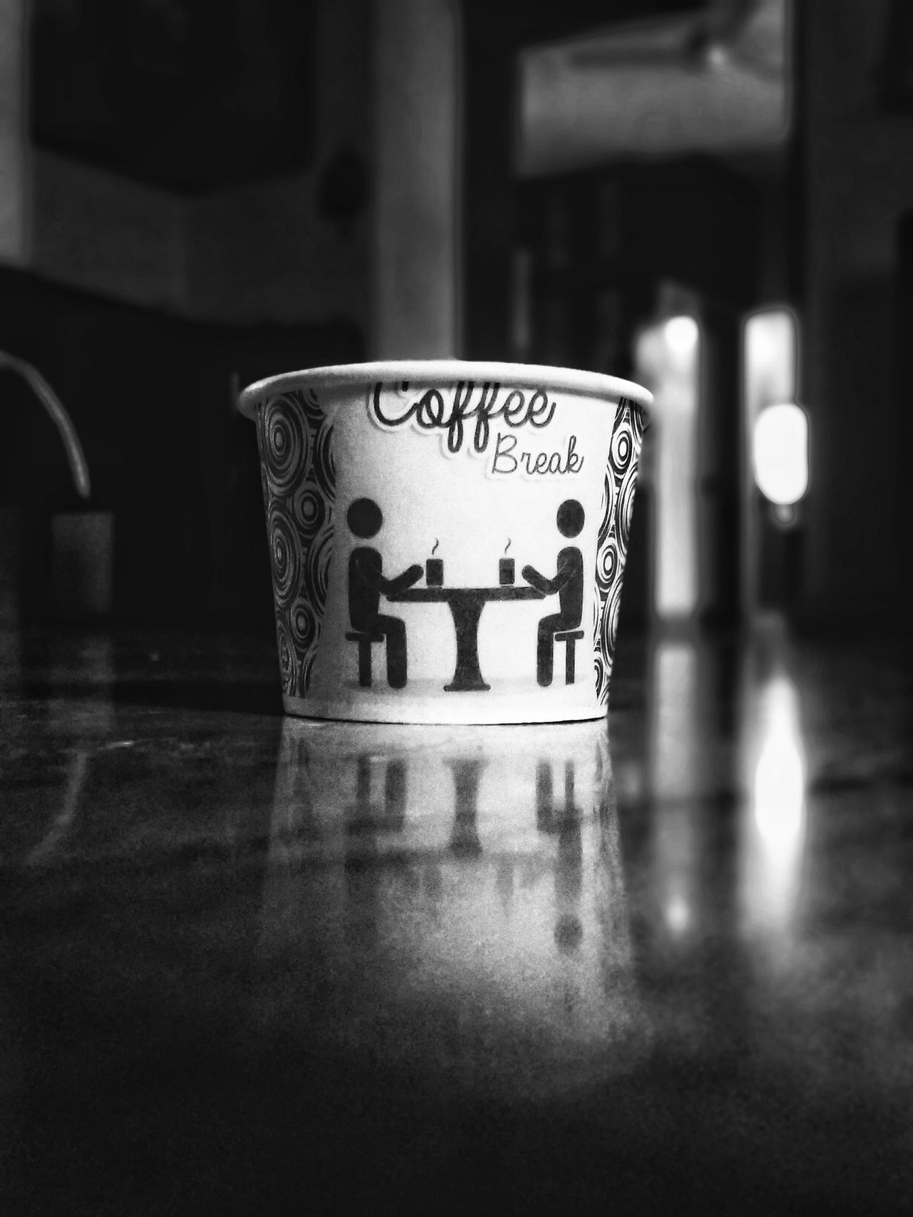 Text Indoors  No People Day Close-up Coffee Break Snacks! Black & White Monochrome Bnw TheWeek On EyEem Cup Cafe Latte Stationery
