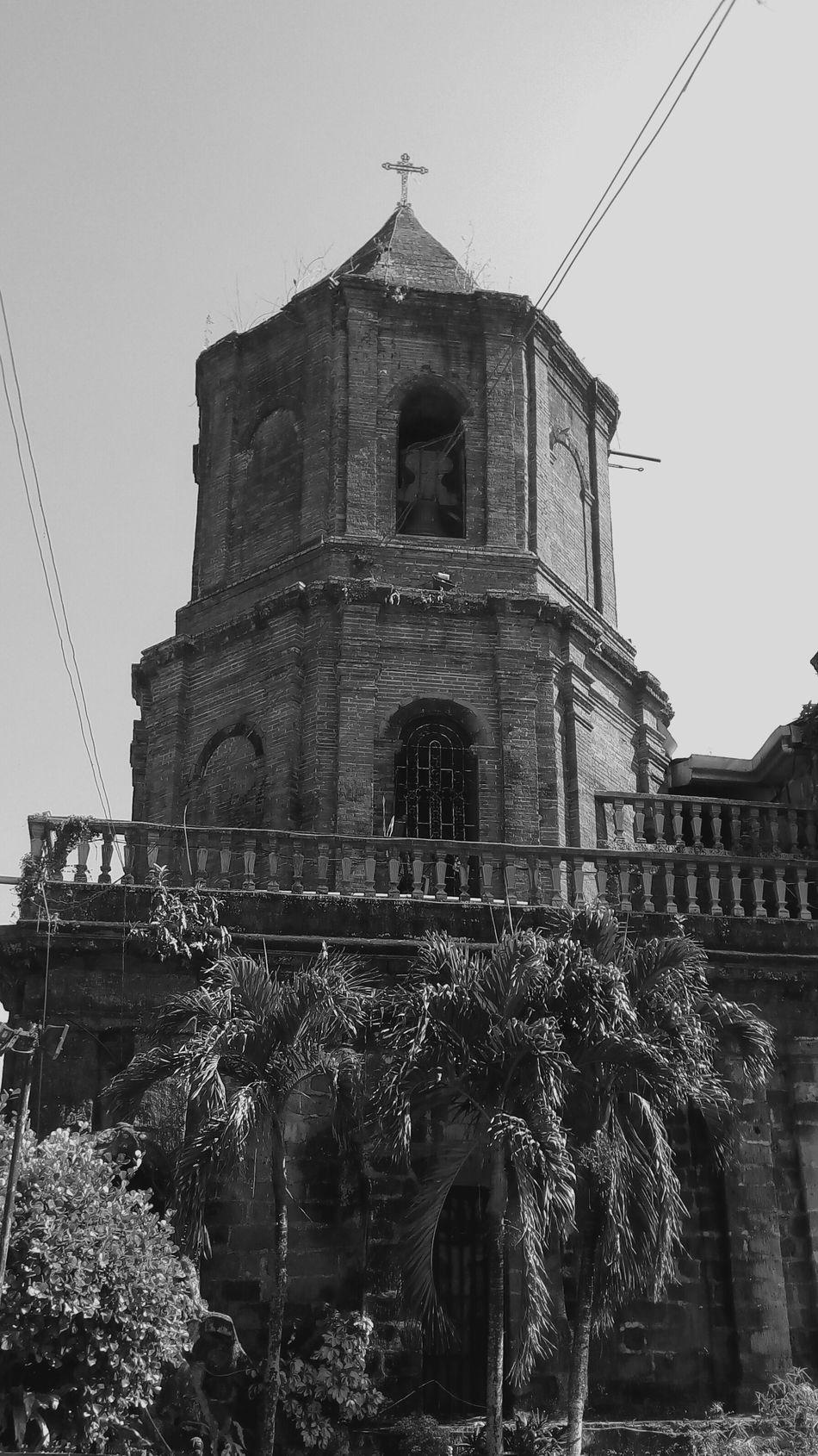 Pila Bell Tower Church Bell Tower Churchyard Black & White Eyeem Black And White Heritage Site Blackandwhite Photography Blackandwhite Church Front Black And White Old Church Bell Cross