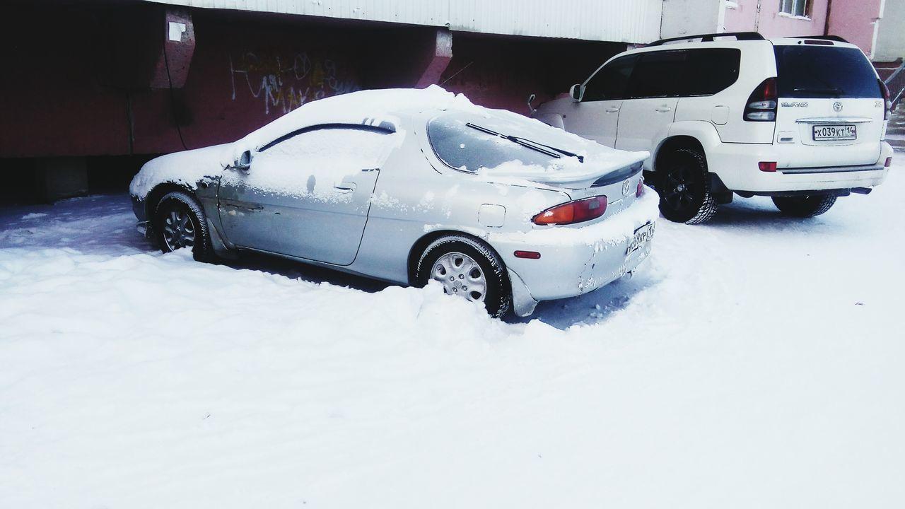 Snow Car Winter Cold Temperature Mazda Yakutia Yakutsk Day No People Snowing Якутия