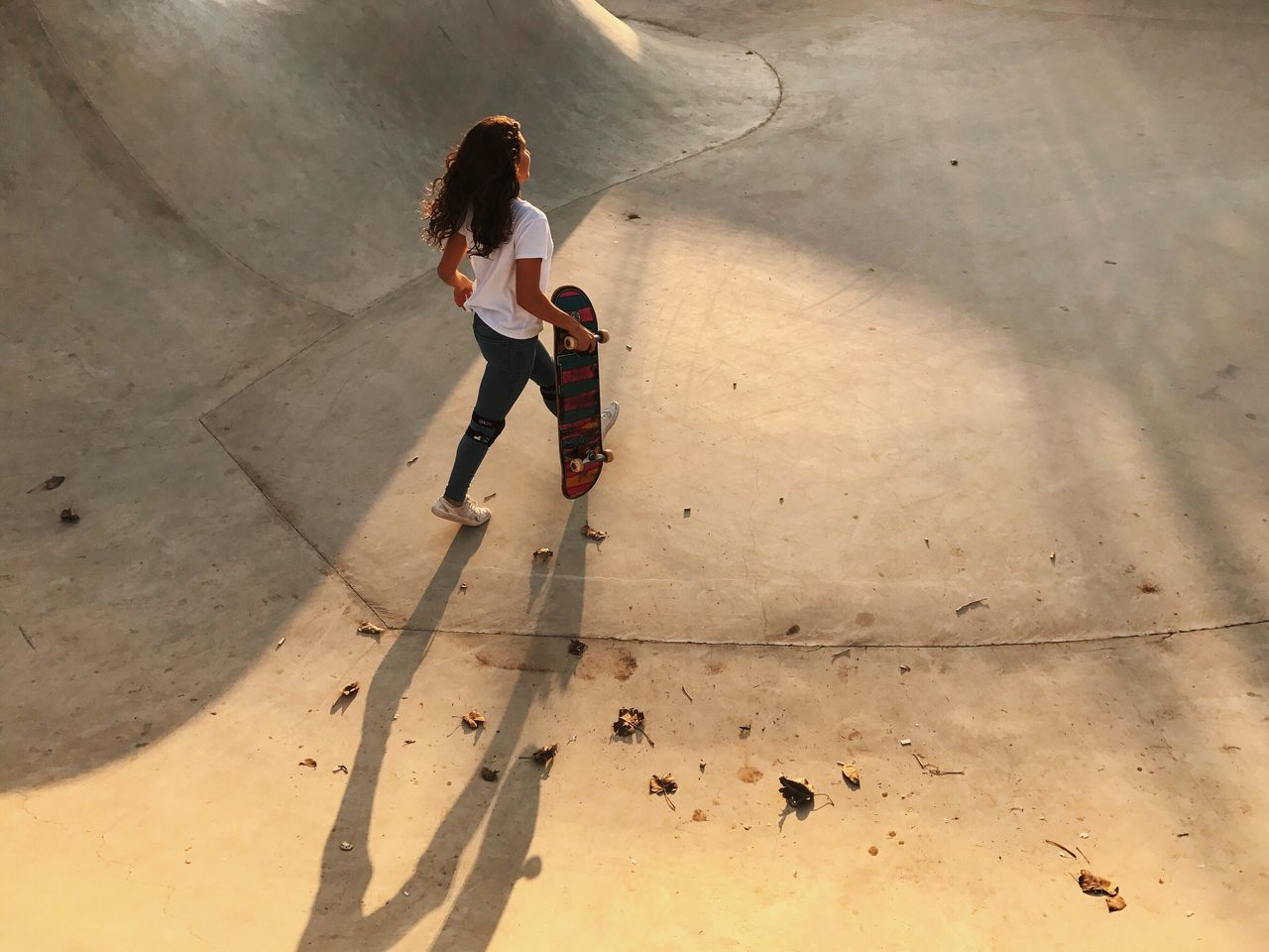 Two People Full Length High Angle View Day Young Women Young Adult Real People Shadow Togetherness Standing Women Outdoors Friendship Skateboard Park People Adult Adults Only The Street Photographer - 2017 EyeEm Awards מייסקייט IPhone7Plus מייאייפון7 Shotoniphone7plus