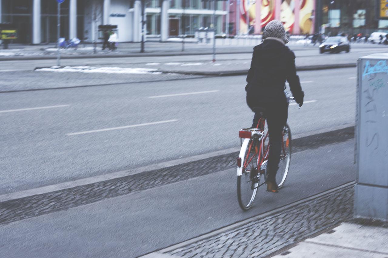 Streetphotography Biking In The Street