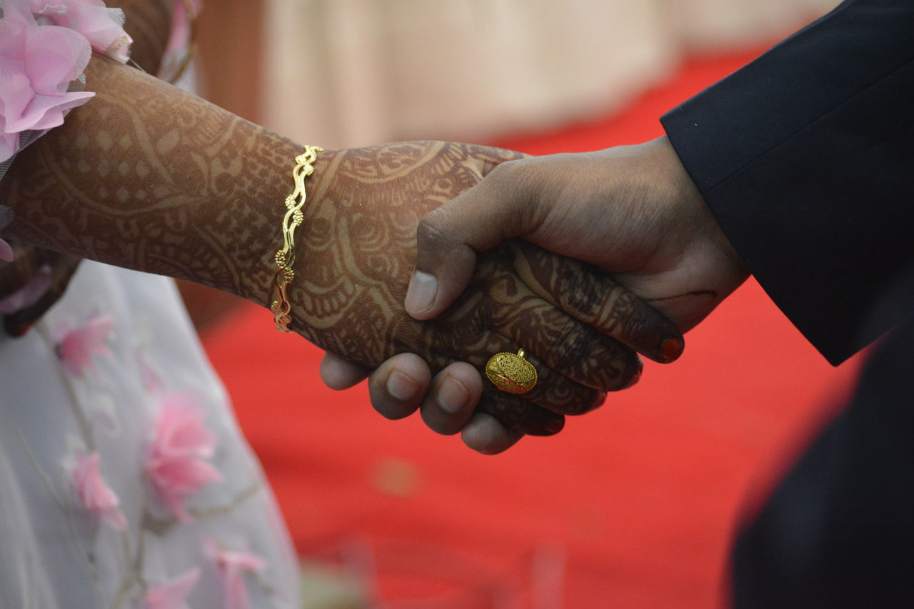 Wine Moments Human Hand Close-up Cultures Celebration Togetherness Adults Only People Bride Groom Wedding Church Delhi India Two Is Better Than One