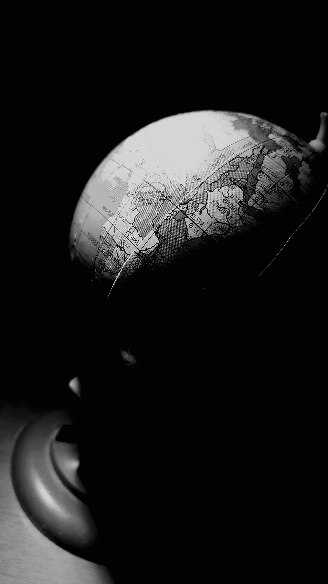 Close-up Black Background Indoors  Macro Beauty Macro Photography Globe Globe - Man Made Object Earth Map High Contrast Contrast Artificial Light Artifical Light Blackandwhite Black And White Black & White Blackandwhite Photography Black And White Photography Black Background Black&white Black And White Collection