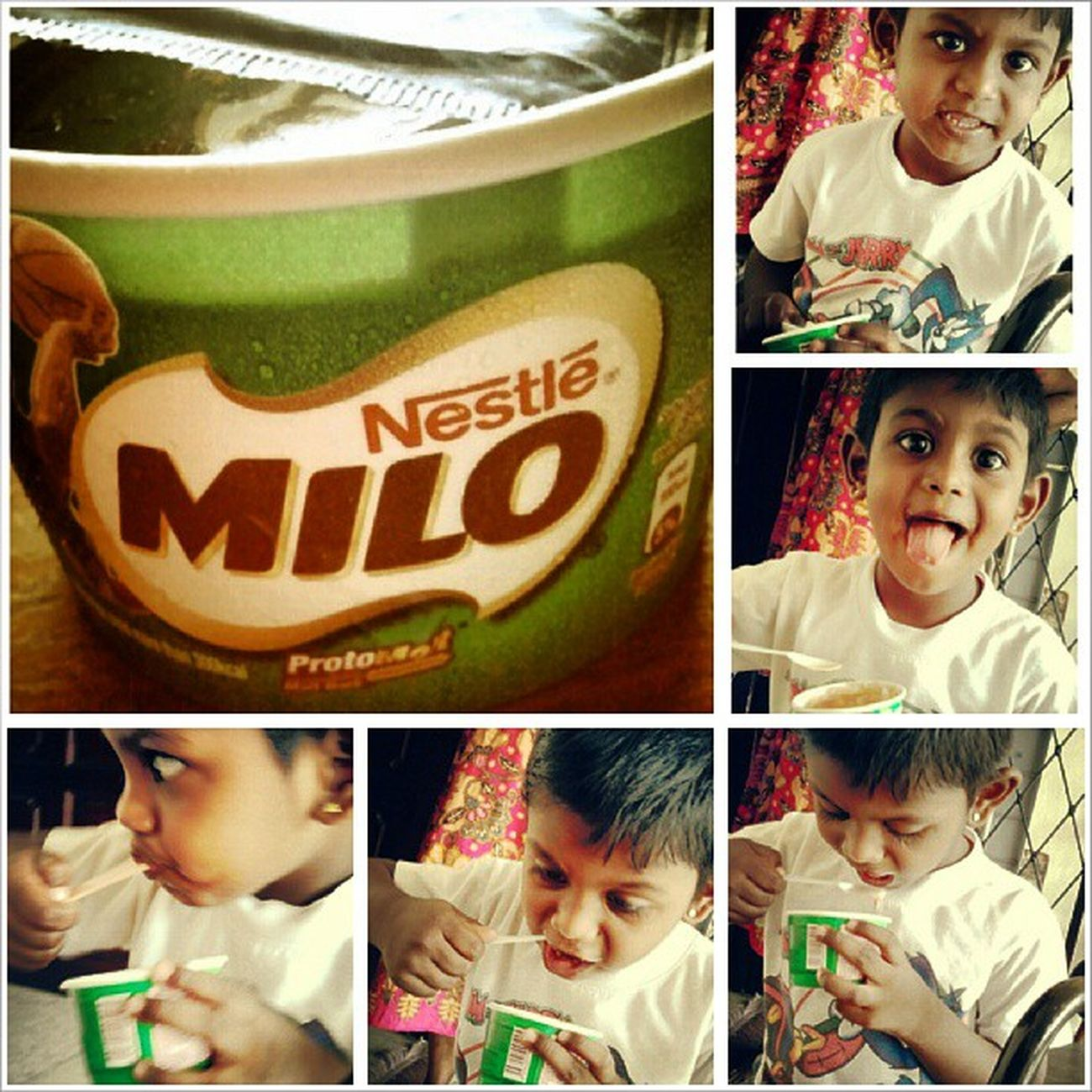 Bfast Milo Icecream Cute darshan <3<3