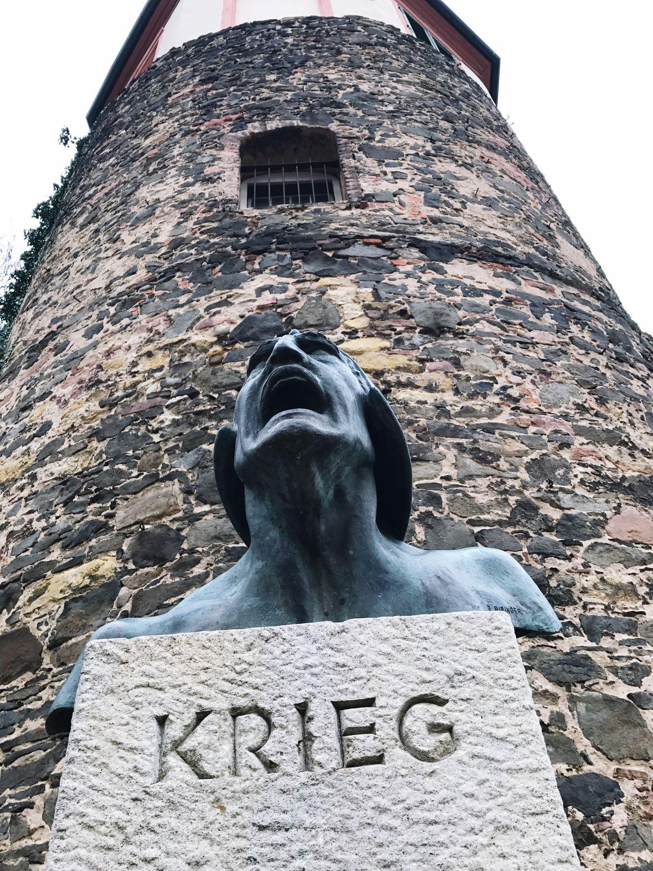 Architecture Sculpture No People Deutchland Day Frankfurt Main Krieg