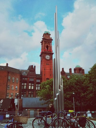 Enjoying the view in Manchester