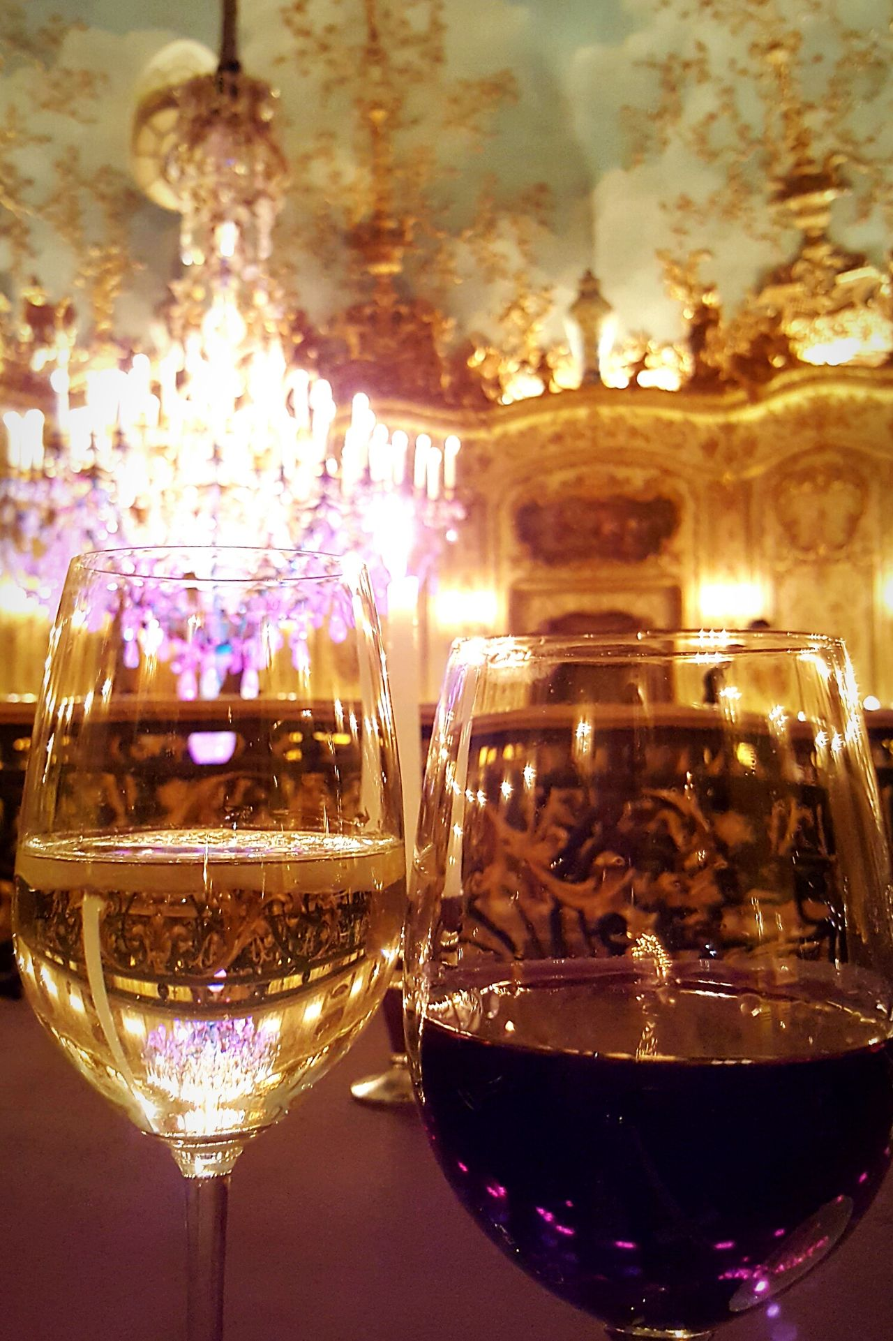 Drinking Glass Drink Celebration Indoors  Close-up No People Wine Gold Colored Wineglass Alcohol Night Posh Restaurant Golden Rococò Style Rococo Rococostyle Baroque Style Baroque Luxury Turandot Restaurant Moscow Posh Restaurant Moscow Russia Turandot