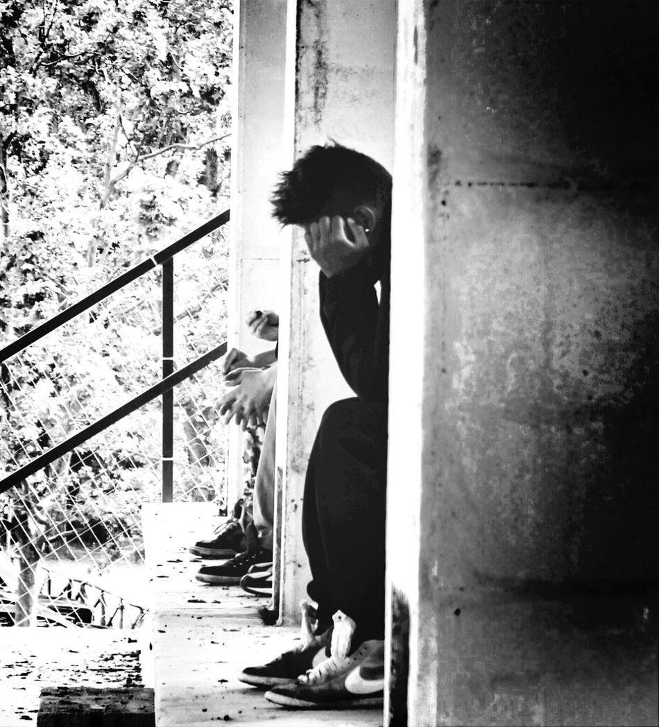 Breathe, keep breathing Streetphotography Black And White Monochrome Streetphoto_bw