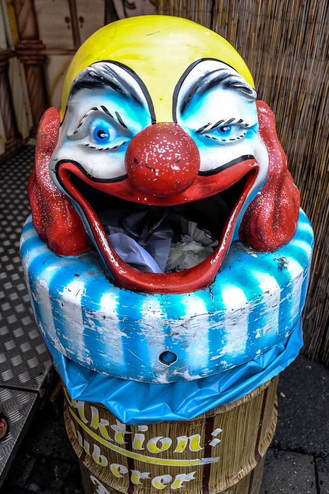 Bin Clown Scary