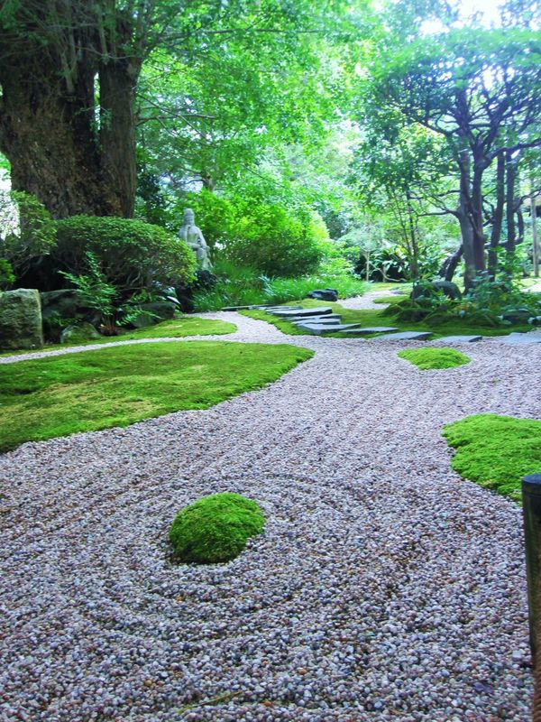 Beauty In Nature Day Garden Garden Path Grass Green Color Growth Japanese  Moss Nature No People Outdoors Plant Stone Garden Tranquil Scene Tranquility Tree