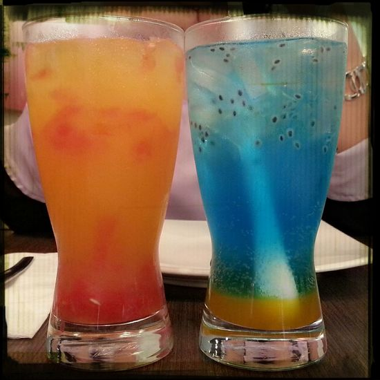 Blue ocean fruit punch..