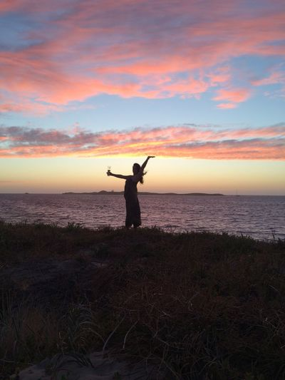 Sunset Silhouettes WestCoast Beach Life