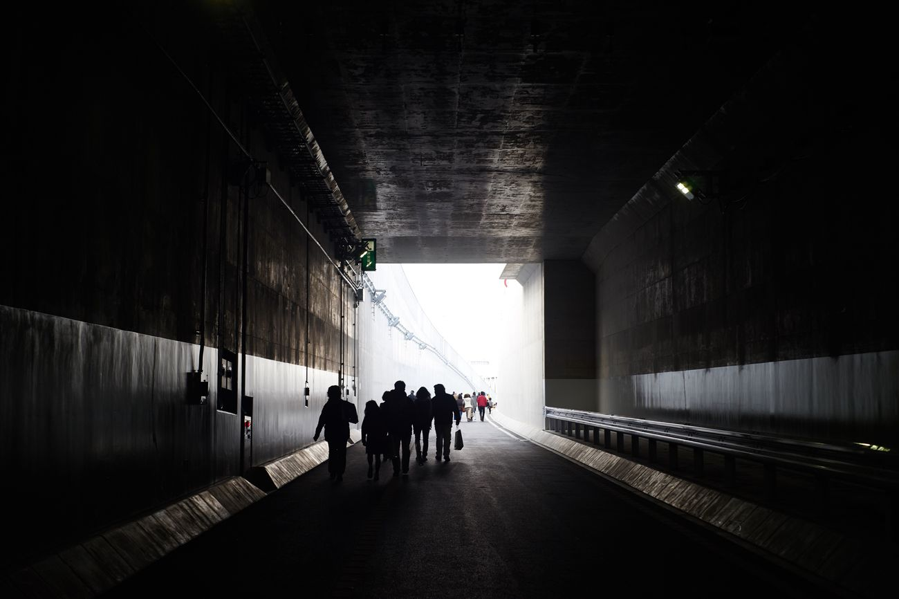 Tunnel Indoors  Walking Real People Sunlight Architecture Men Day Large Group Of People People Adults Only Adult Tunnels Tunnel Vision Lights In The Dark Highway Outdoors Eye4photography  EyeEm Best Shots