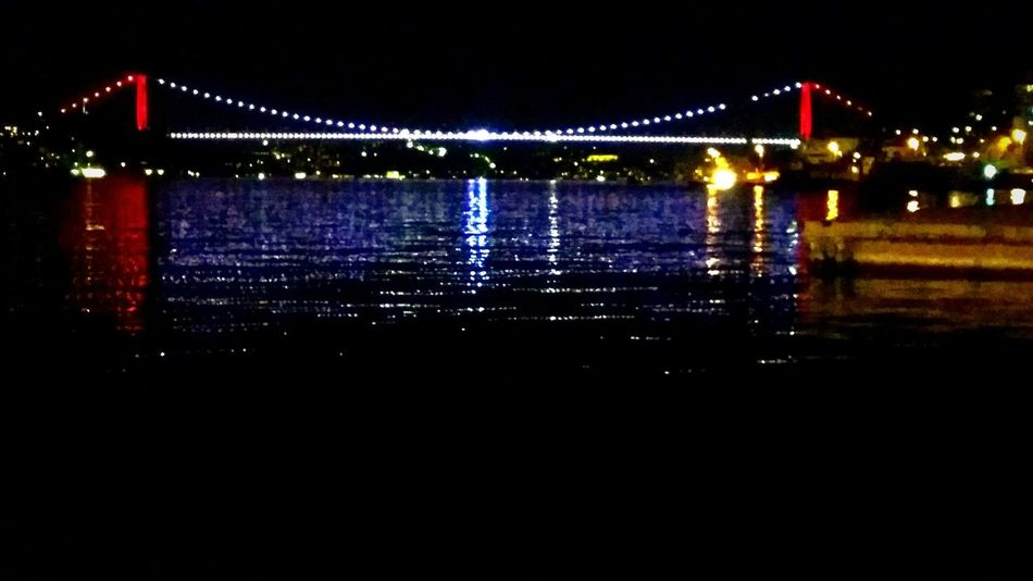Night No People Water Sky City Nature Outdoors Istanbul Moon Light Kopru Bridge Sarıyer Sea İstinye FSM Fsm Köprüsü Fsmkoprusu Samsung Galaxy S5 PhonePhotography
