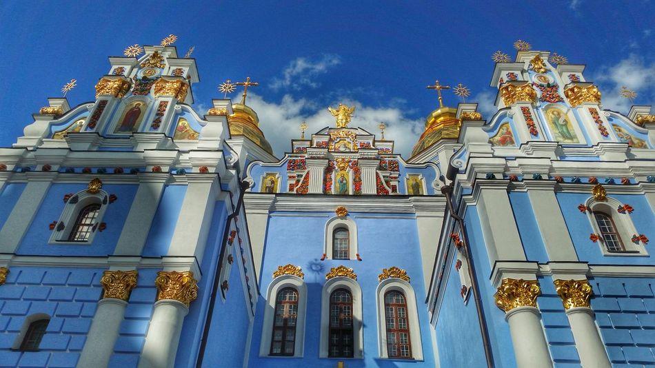 43 Golden Moments Kiev Ukraine Streetphotography Mobile Photography Street Photography Mobilephotography Monastery Church Orthodox Church Cathedral Kiev_ig Miles Away