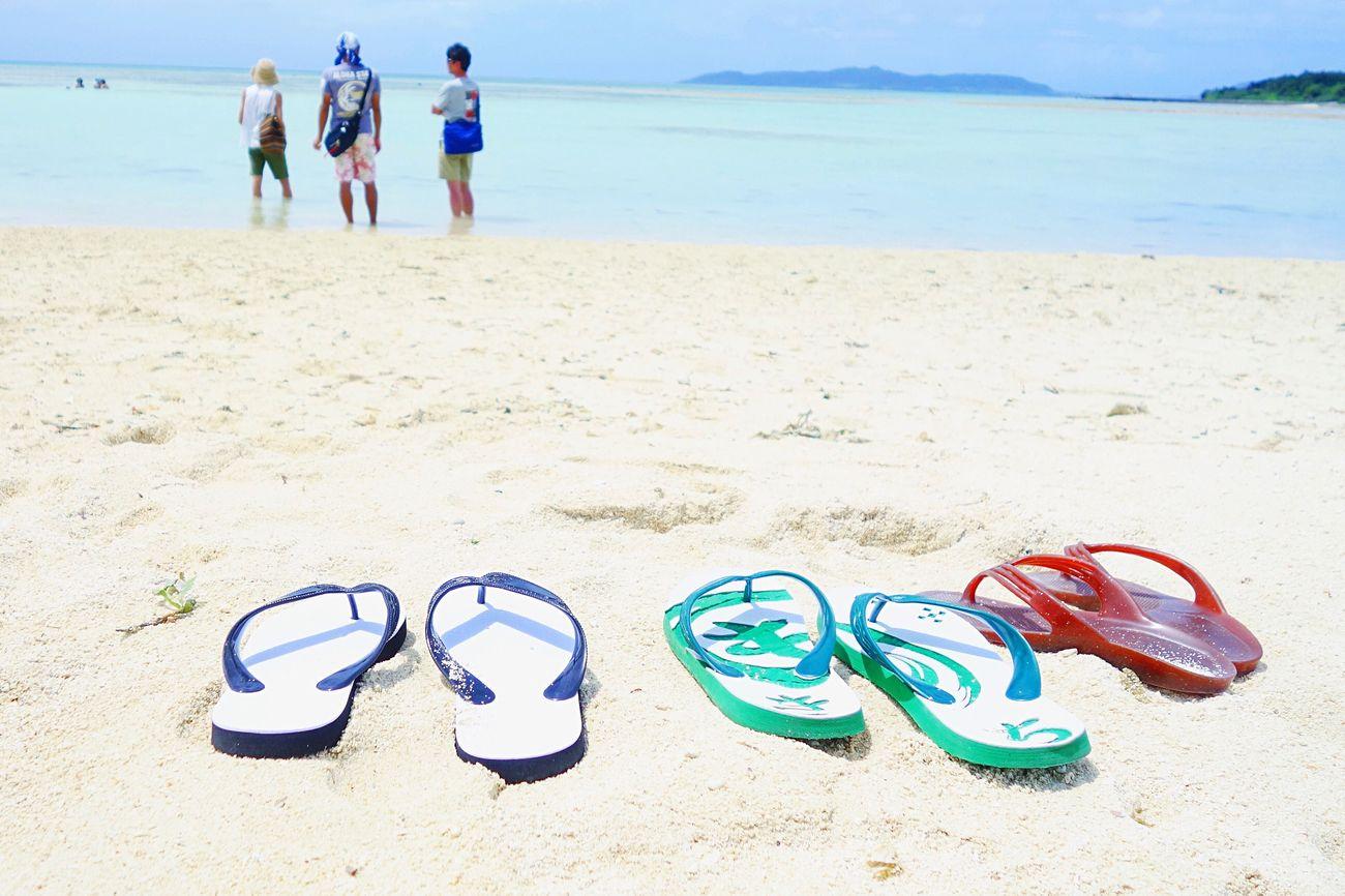 竹富島 八重山 竹富 コンドイビーチ コンドイ浜 Yaeyama Okinawa Taketomi Taketomijima Taketomi Island Beach Sandy Beach SandyBeach Beachsandals Beachsandal ビーチサンダル OKINAWA, JAPAN Bluewater Rx100 Summer Summer2016