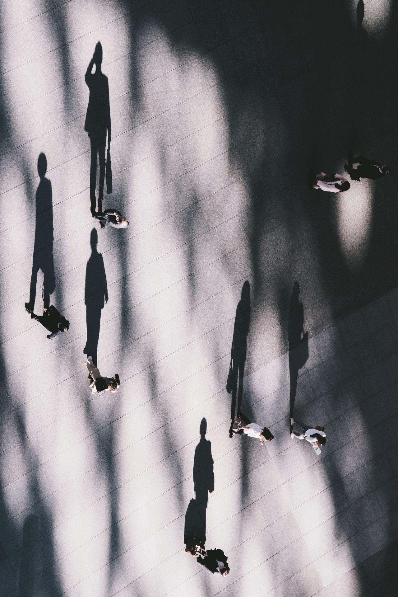 People Real People Medium Group Of People Walking Minimal People Minimalist Businessman Light And Shadow Tinypeople Tiny