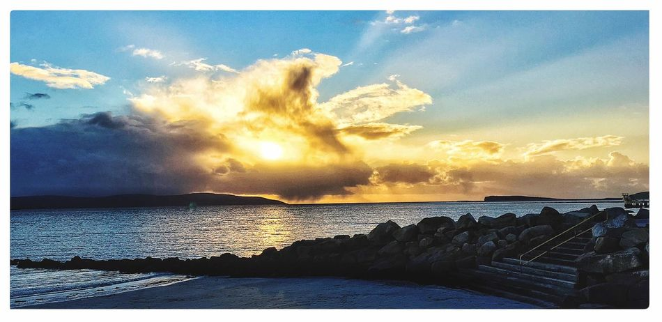 Landscapes With WhiteWall Salthill Prom Galwaybay Galway, Sunset Galway Light Galway,ireland Galway Sunset Sunset #sun #clouds #skylovers #sky #nature #beautifulinnature #naturalbeauty #photography #landscape The KIOMI Collection