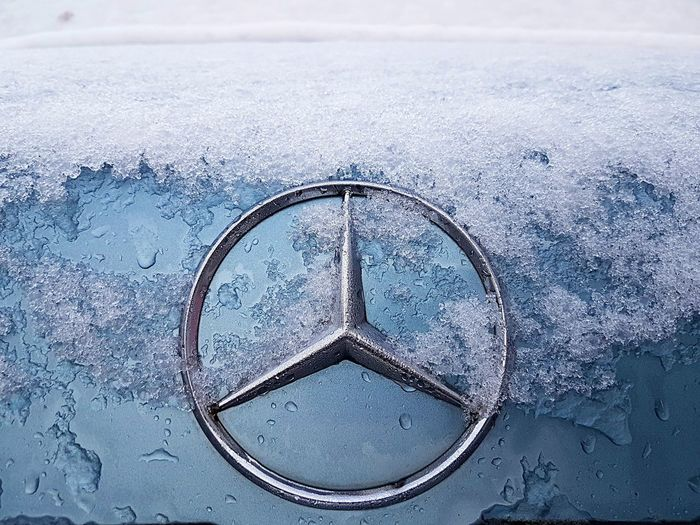 Mercedes star with snow Berlin Logo Mercedes Mercedes-Benz Snow ❄ Winter Close-up Cold Temperature Day Mercedes Benz Mercedes Logo Mercedes Star Mercedesbenz No People Outdoors Sky Snow Star Transportation Water Winter