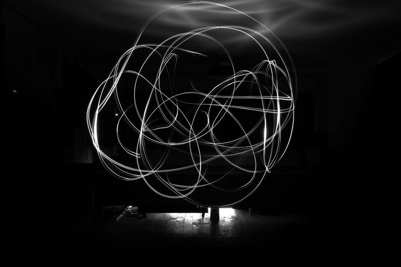 Abstract Blackandwhite Photography Indoors  Langzeitaufnahme Langzeitbelichtung Leipzig Lighting Equipment Lightpainting Night No People