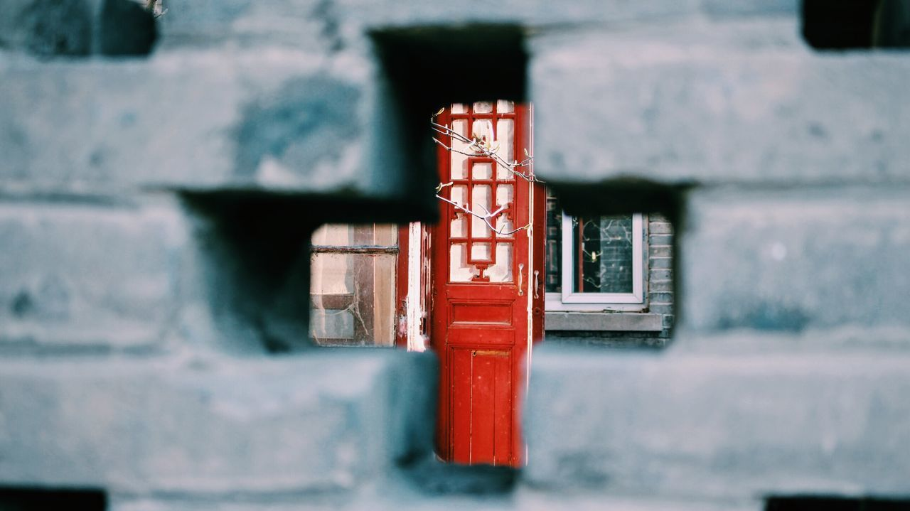 built structure, architecture, red, no people, outdoors, day, building exterior, close-up