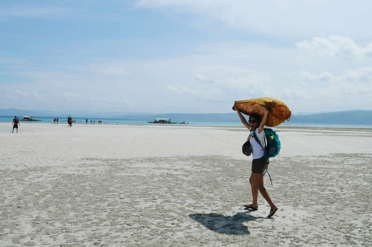 Cagbaleteisland Philippines More Fun In The Philippines  Traveller Sarong Backpacker Sand Low Tide Beach Quezon Province Vacation Holiday Swimming Leisure Activity Enjoying Life Travel Photography Eyeem Philippines Saltyhair Sea Sky Island Life Happiness Walking AroundPlaces I've Been Sunny Day