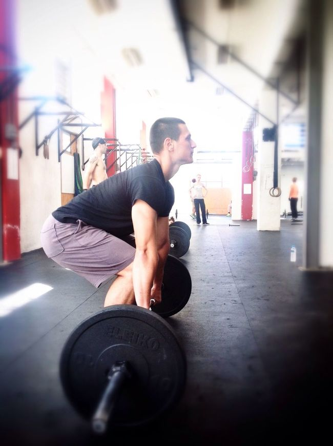 A Day At The Box Working Hard Crossfit