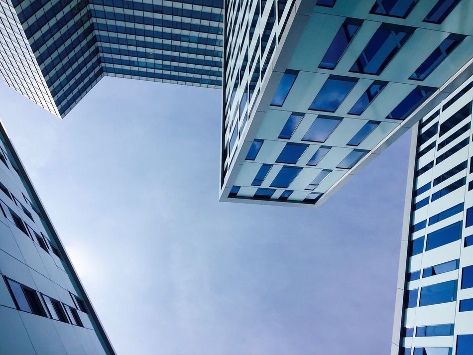 Architecture Architecture_collection Architecturelovers Blue Built Structure Business City Corporate Business Day Futuristic Lookingup Low Angle View Modern Office Office Building Place Of Work Skyscraper Urban Geometry