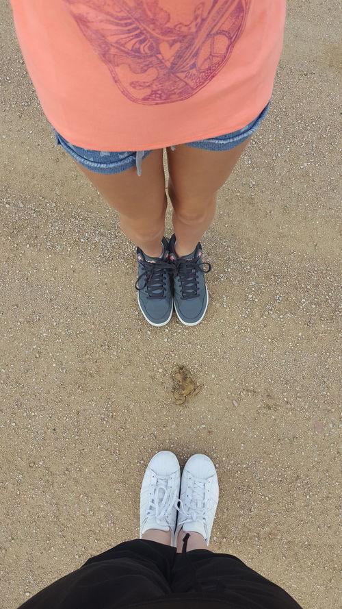 My niece and i standing around