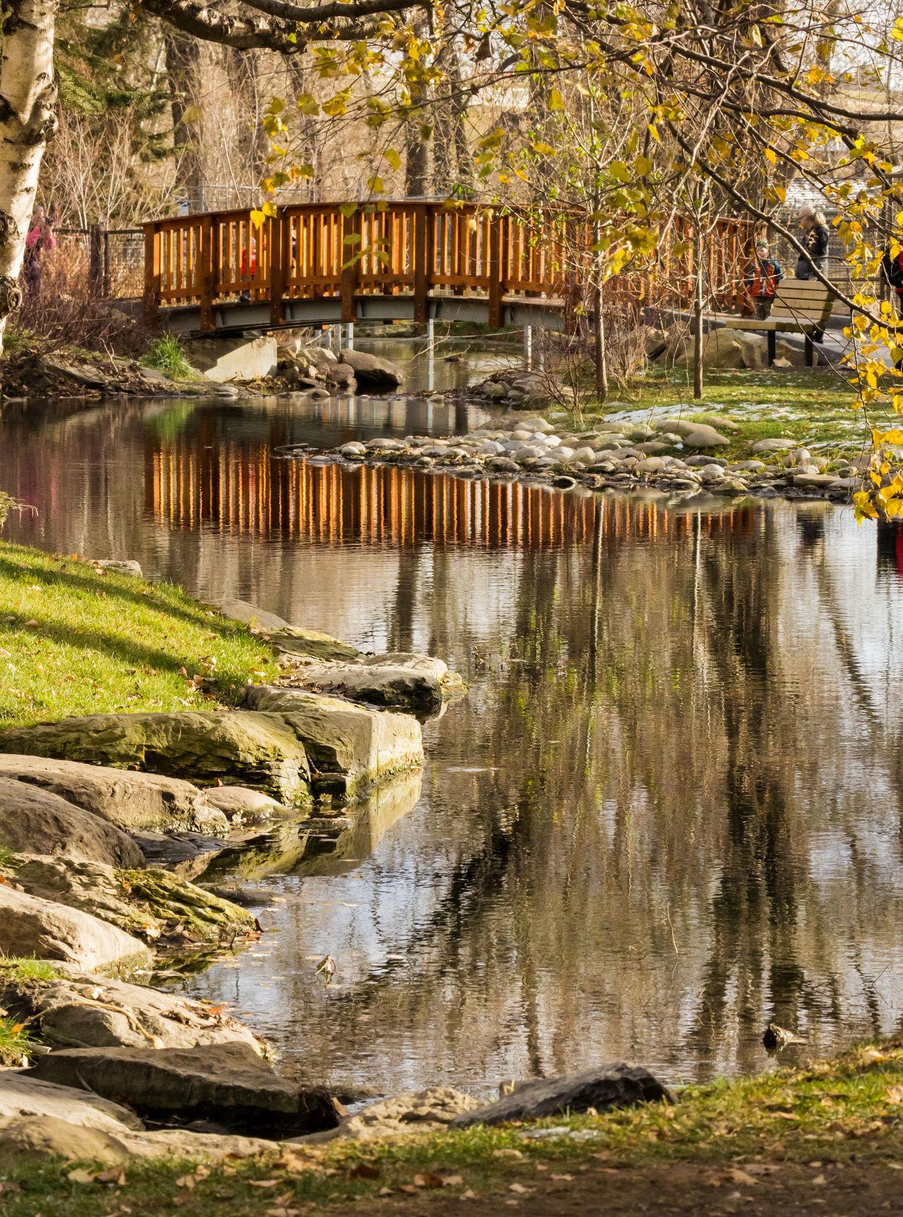Autumn reflections. Autumn Bridge Day Lake Nature No People Outdoors Reflection Scenics Shoreline Tranquil Scene Tranquility Tree Water Wooden Bridge