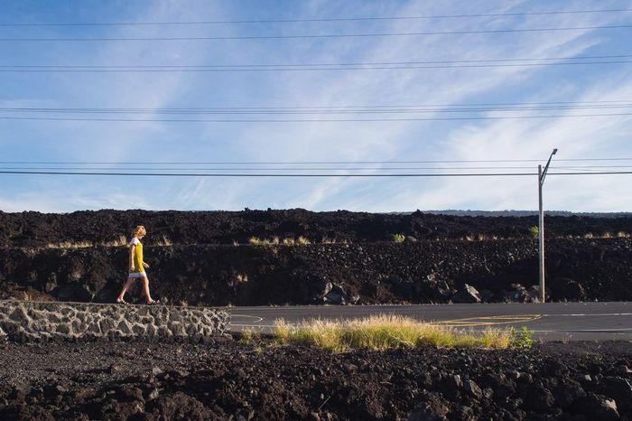 lost highway Escaping Walking Around Hawaii