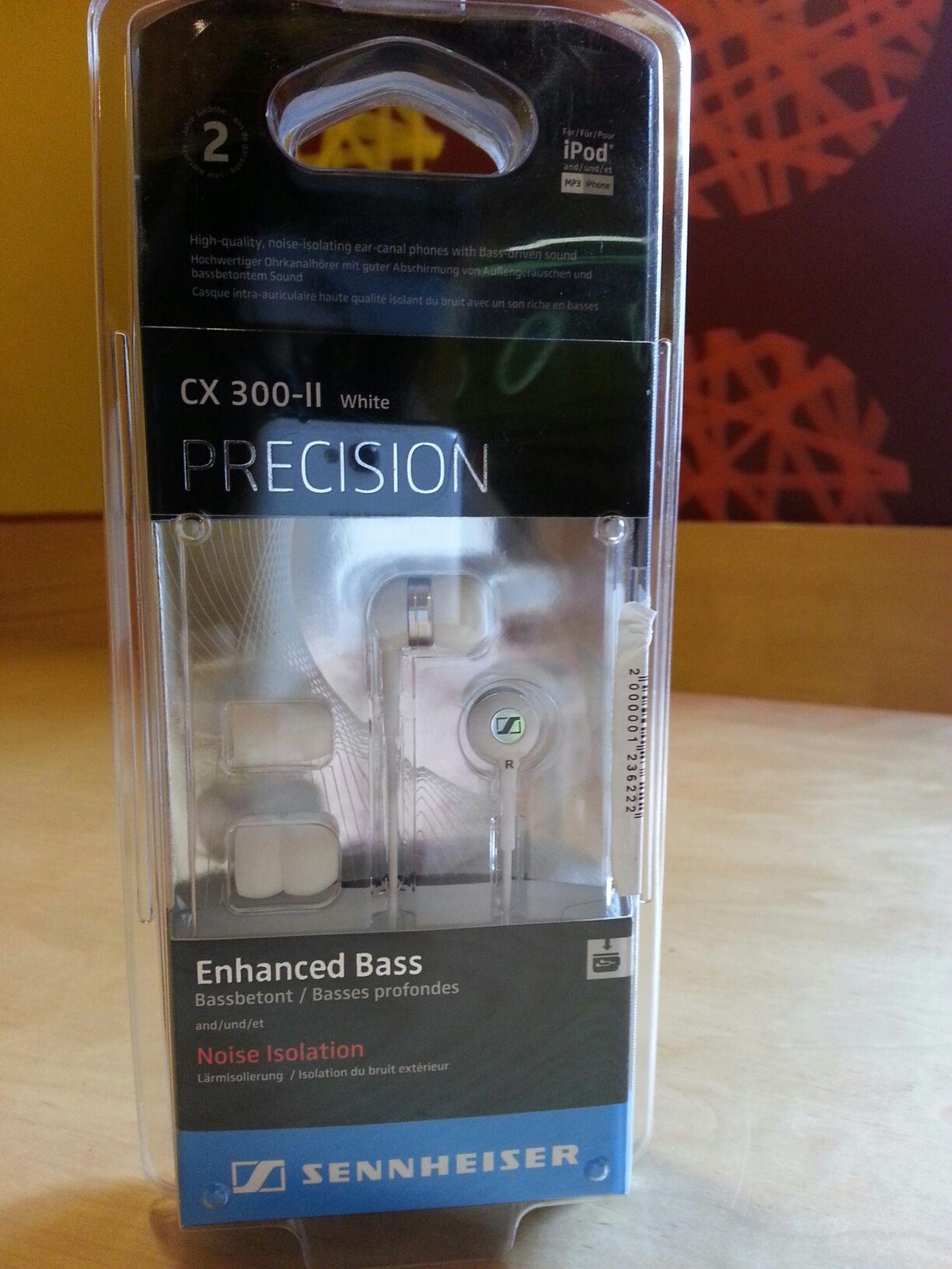 My new original Sennheiser Cx300-ii for Ipod