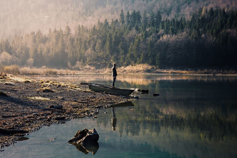 Nature Real People Reflection Beauty In Nature Lake Water Outdoors Mountain TheWeekOnEyeEM Landscape Forest