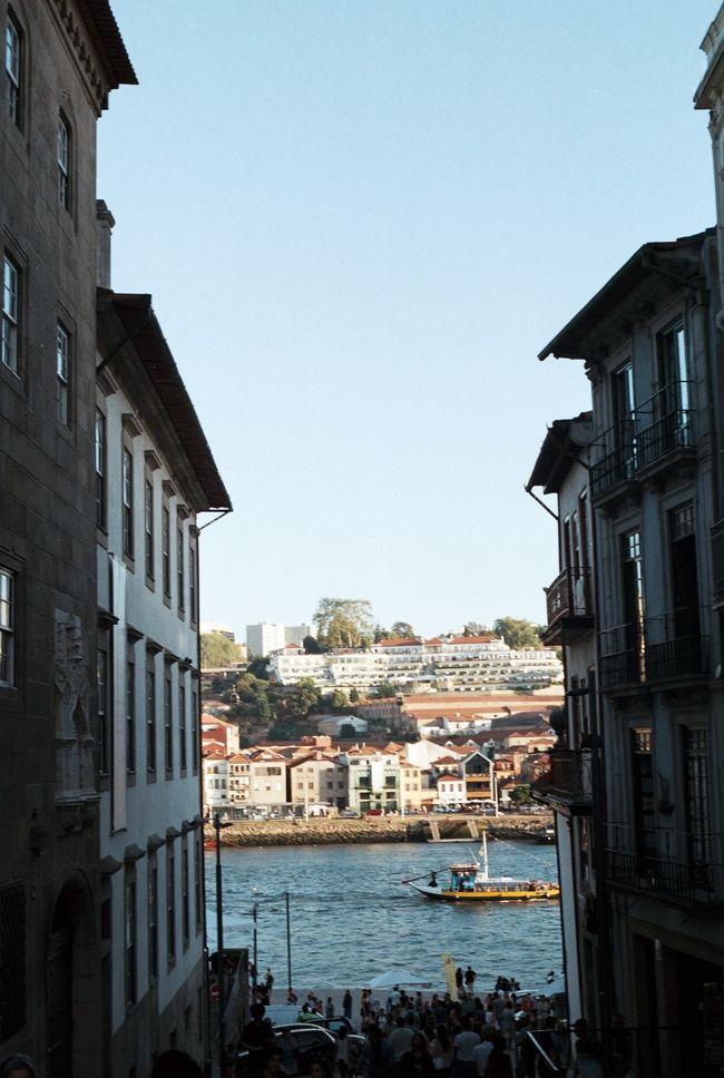 Battle Of The Cities Porto Ribeira Gaia Douro  Summertime Canonae1 Filmisnotdead Fujifilm Analogue Photography