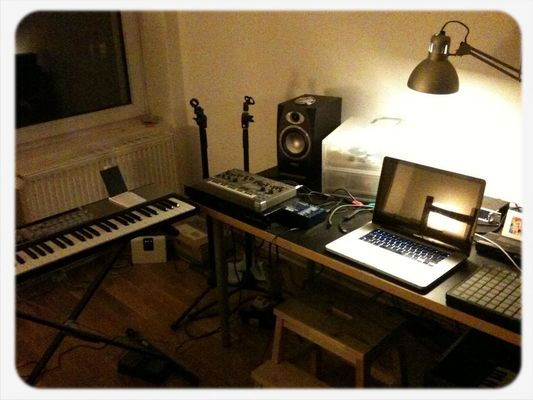 My bedroom music studio in Berlin by Mike Verdone