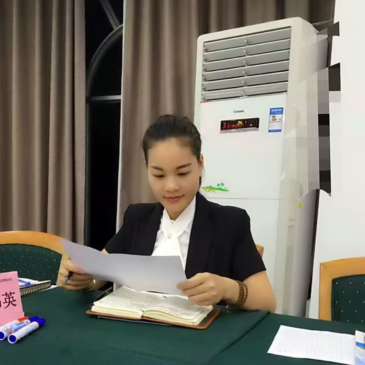 Preparing documents for Group Discussion Business Finance And Industry Businesswoman Documents One Woman Only One Young Woman Only Paperwork Reading Well-dressed Working Girl :) Young Women