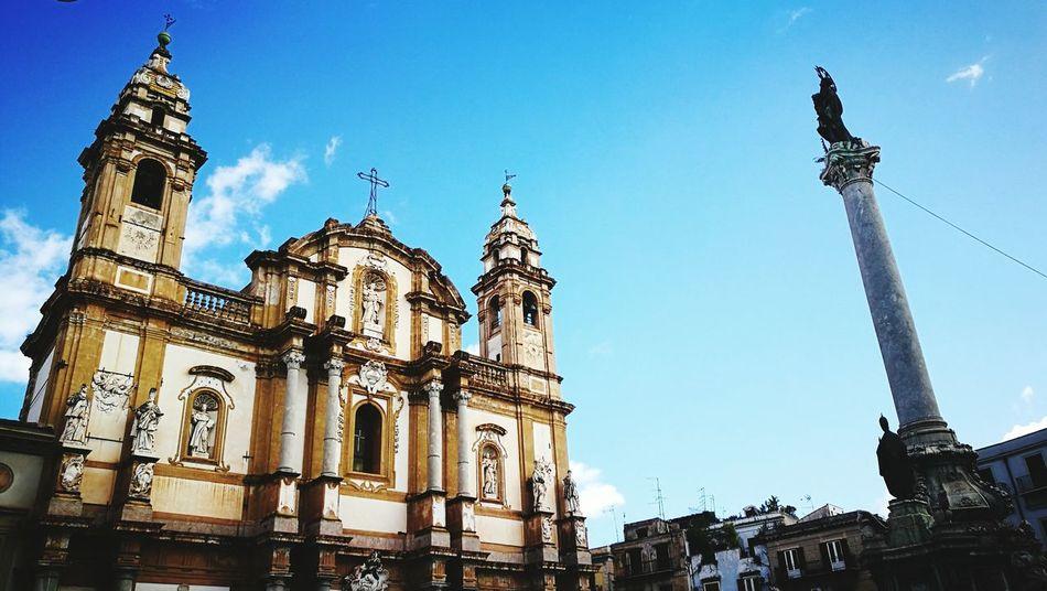 Piazza San Domenico Piazza San Domenico City Architecture Clear Sky Cultures Outdoors Travel Destinations Sicily Palermo Palermo,Sicilia Palermo❤️ Built Structure Architecture