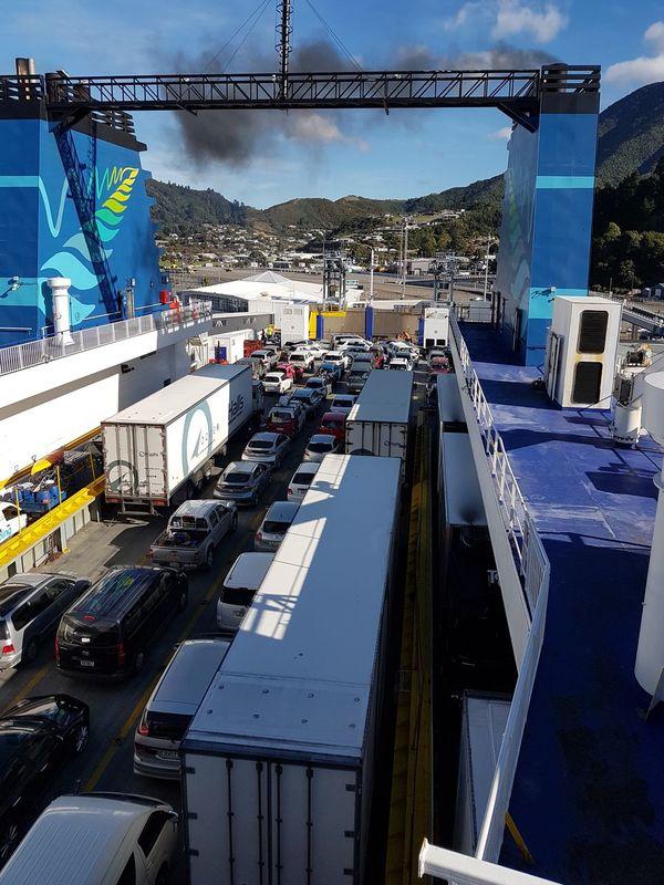 On the Interislander ferry in Picton. Sky Water NZ South Island NZ Outdoors New Zealand Ferry Interislander