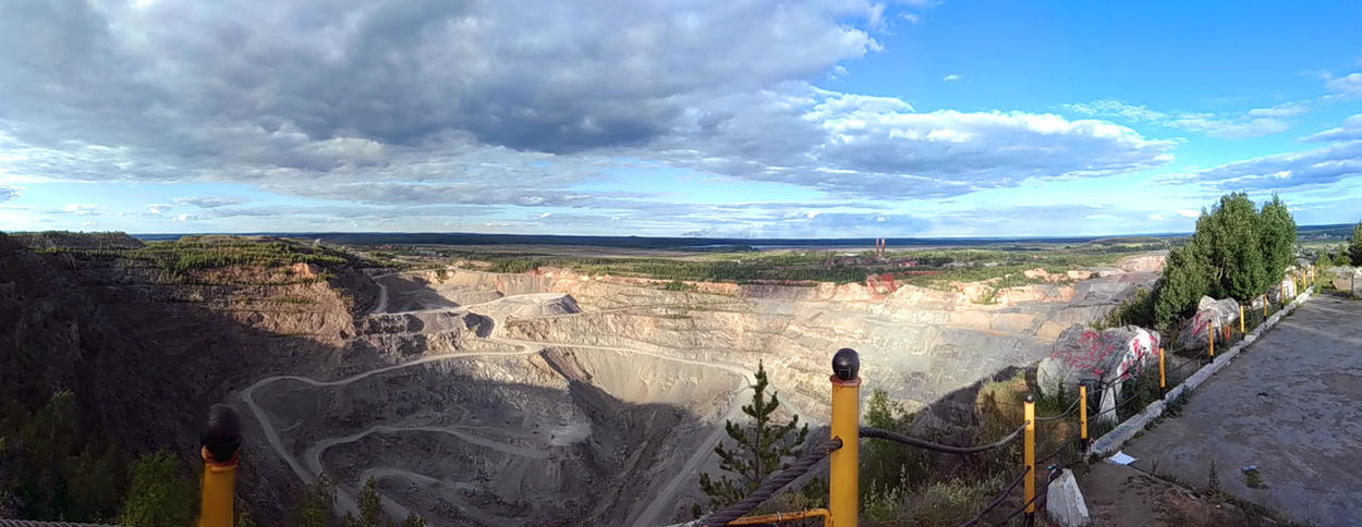 Cloud - Sky Day Greatness Light And Shadow Mountain Nature No People Outdoors Panorama Quarry Russia Sky