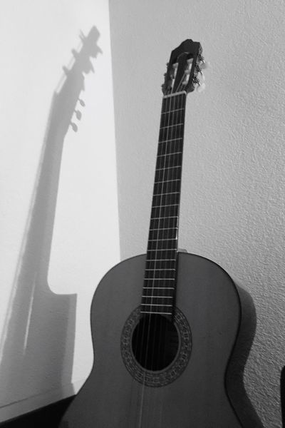 Guitar Wall - Building Feature Music Indoors  Musical Instrument Home Interior Musical Instrument String No People Day Close-up